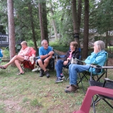 Chatting while waiting for the BBQrs to finish