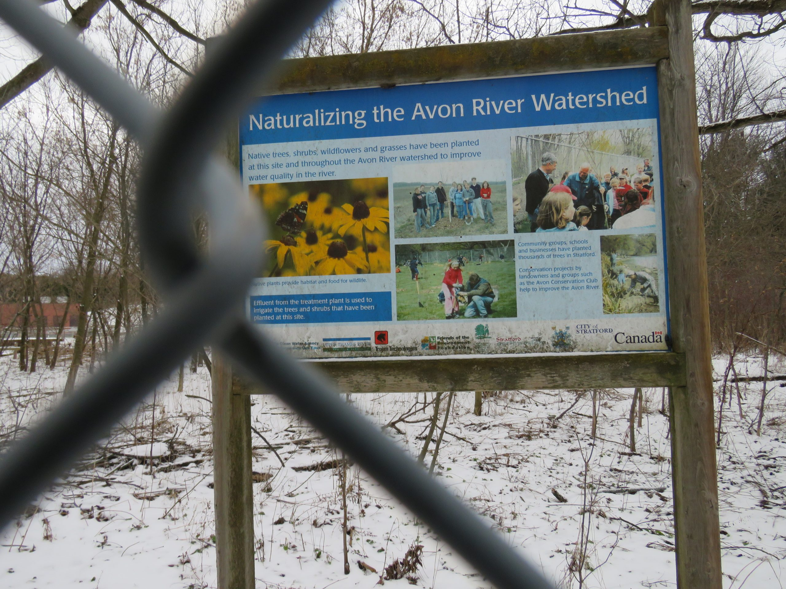 Sign explaining what the history and nature of the area.