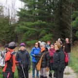 Leader Bonnie explaining details of the trail
