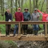 11.-Crew on the completed bridge
