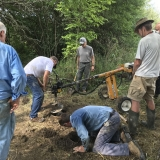 Sunday July 19 -Post hole drilling and hand digging
