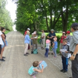 Moms, Dads, Visitors and Club Members gather for hike