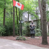 Hmm Terra Cotta Warrior protecting Canadian residence
