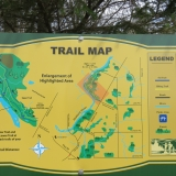 Well marked trail with map in parking lot.