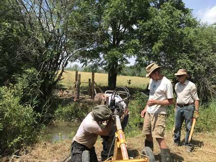 Sunday July 19 - Setting up post hole digger