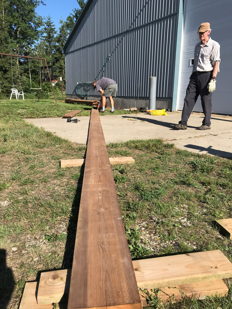 Making 28 foot beams