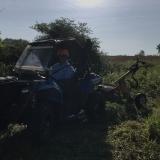 Sunday July 19 - Towing pole hole digger
