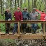 11.-Crew on the completed bridge